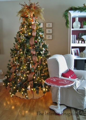 Christmas tree with DIY Ruffle tree skirt