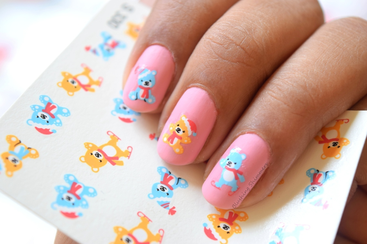Teddy bear Nail Water Decals