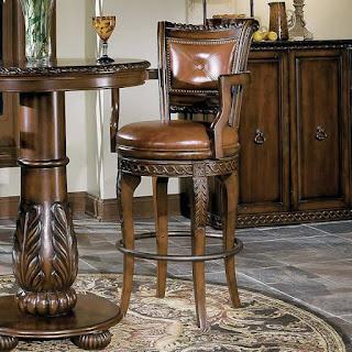 Teak chair atau kursi jati bundar yang sangat mewah dan cantik