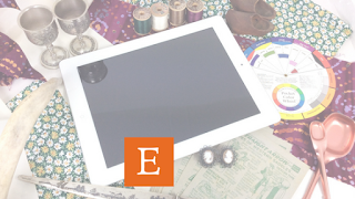 Manage Etsy business with electronic tablet