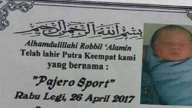Bayi Bernama Pajero Sport