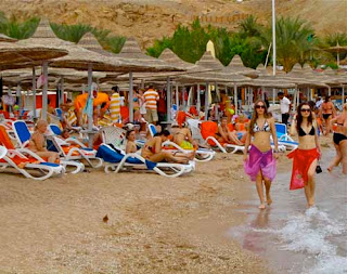 Naama Bay Red Sea Sharm el Shiekh Egypt Beach