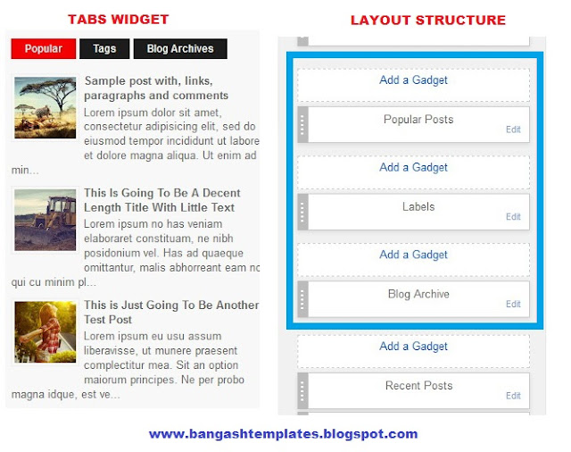 How To Configure Tabs Widget On Blogger