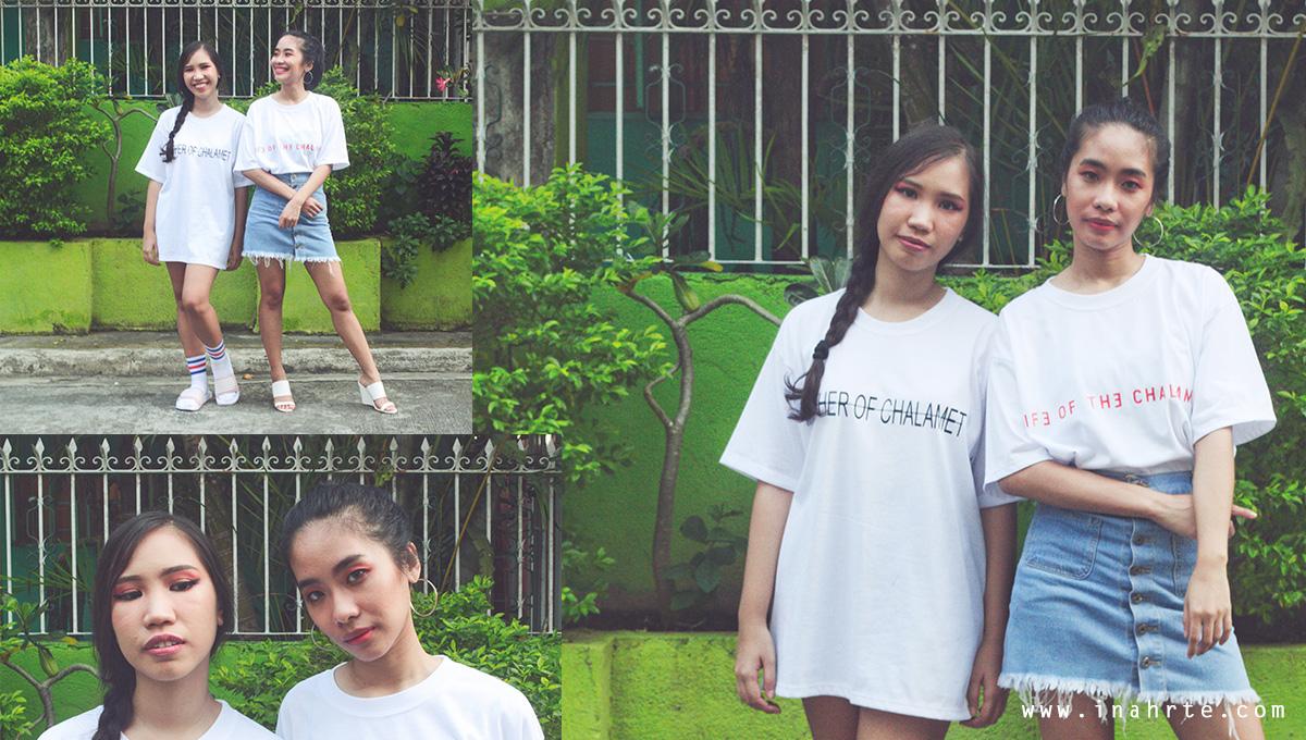 Oversized shirt photo shoot