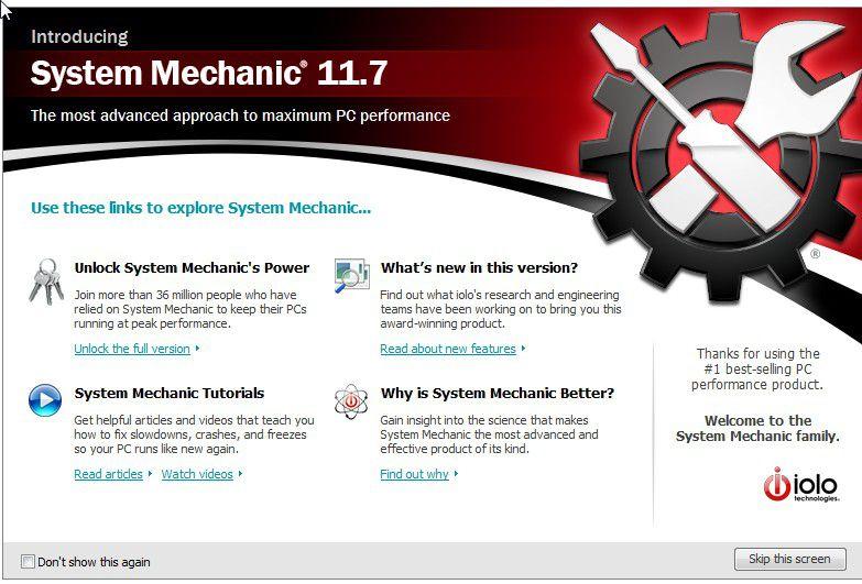 System Mechanic tem alguns diferenciais