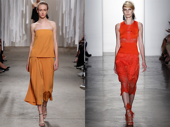 Spring 2016 Trends from Fashion Week Orange