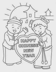 chinese new year free coloring pages | FUN & LEARN : Free worksheets for kid: Chinese New Year ...