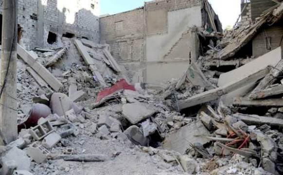 انهيار مبنى في جرمانا ولا ضحايا بين المدنيين