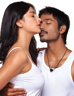Dhanush-Shruthi hassan Hot pics from 3 movie