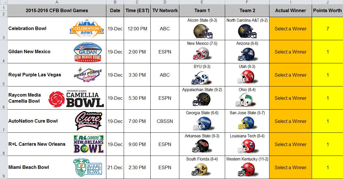 college football scores and predictions bowl games tv schedule