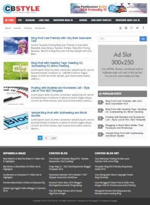 Template Blog SEO Friendly Responsive Terbaik