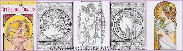 kleurboek   art nouveau designs kleurboek volwassenen, kleurboek voor volwassenen,