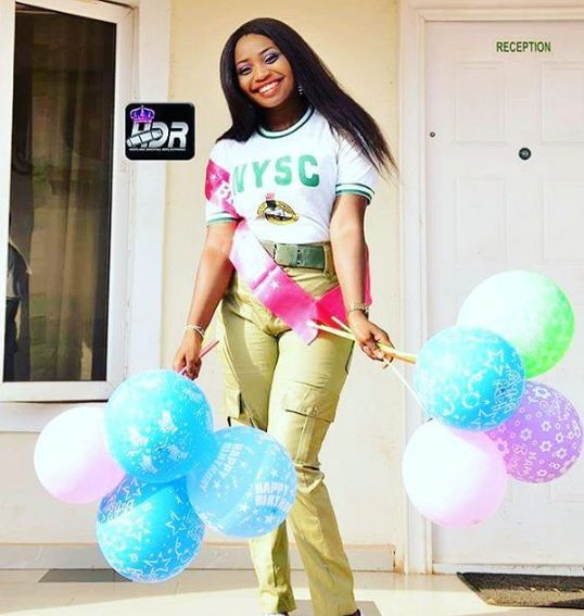 NYSC%2B4 - Beautiful NYSC-inspired birthday shower of a female Corper