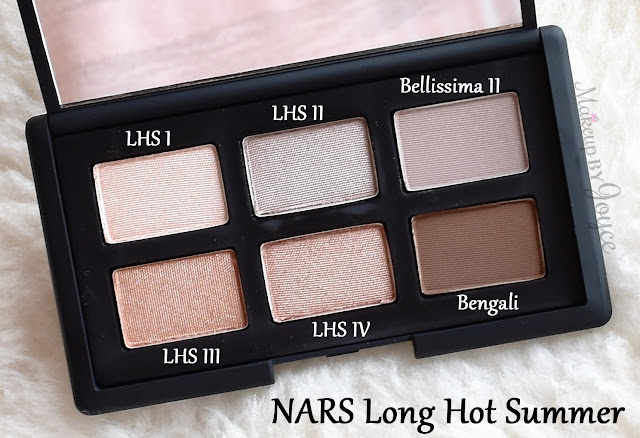 NARS Long Hot Summer Eyeshadow Palette Limited Edition Review
