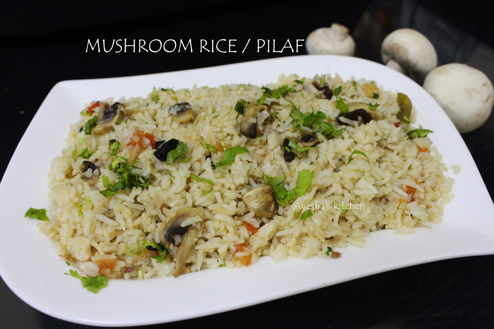Mushroom pulao mushroom rice recipe here is the recipe showing how to make easy pulao with mushroom how to make veg pulao how to make mushroom rice try this and enjoy ccuart Gallery