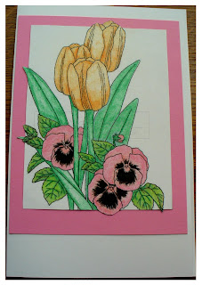 Tulip and Pansie Frame