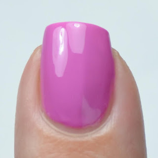 bright purple creme nail polish