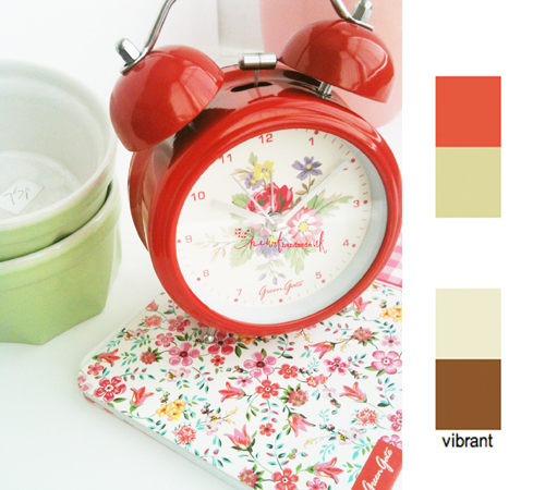 GreenGate+Clock+and+Notebook Shabby Chic Interiors | Greengate Bella Red Clock In My Home