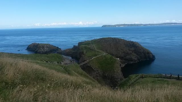 Rope bridge to island at Carrick-a-Rede