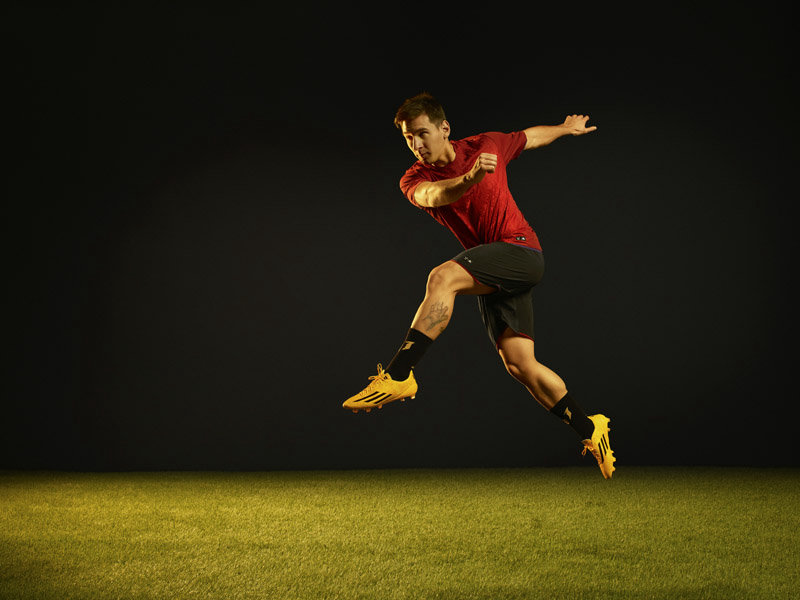 on sale 231c0 79662 New Gold Adidas Adizero Messi 2014-2015 Boot