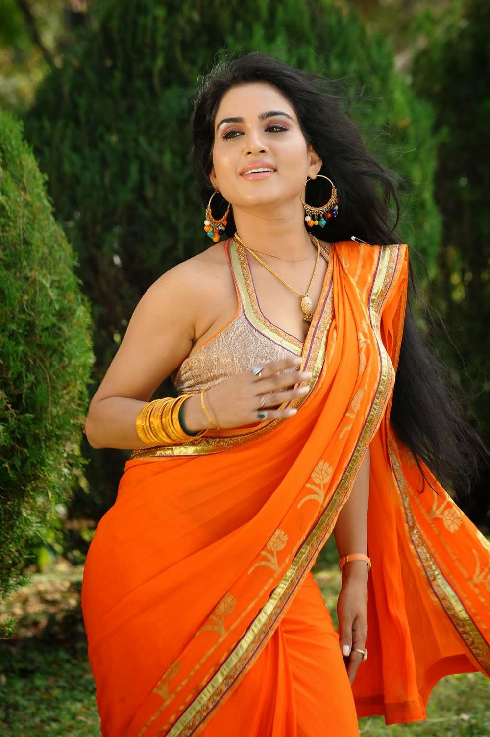 Actress Kavya Singh Latest Hot Saree Images Gallery -8097