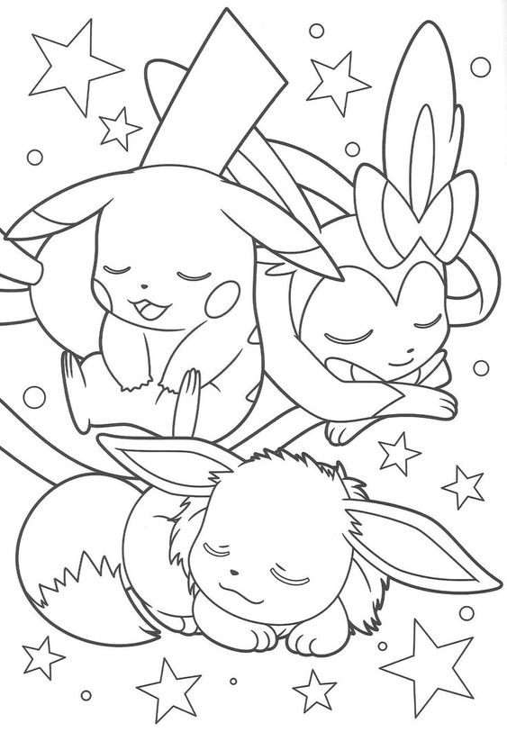 Tranh tô màu Pokemon 10