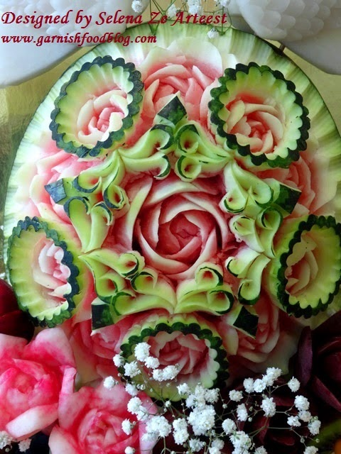 fruit basket watermelon carving