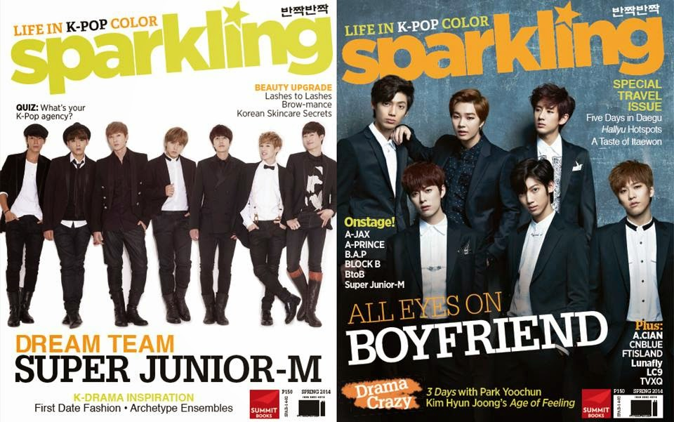 Super Junior-M and Boyfriend grace cover for Sparkling Magazine