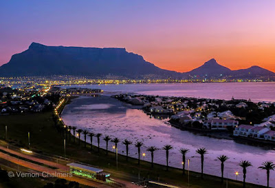 Copyright Vernon Chalmers: Table  Mountain Cape Town - From Arnhem Milnerton / Woodbridge Island