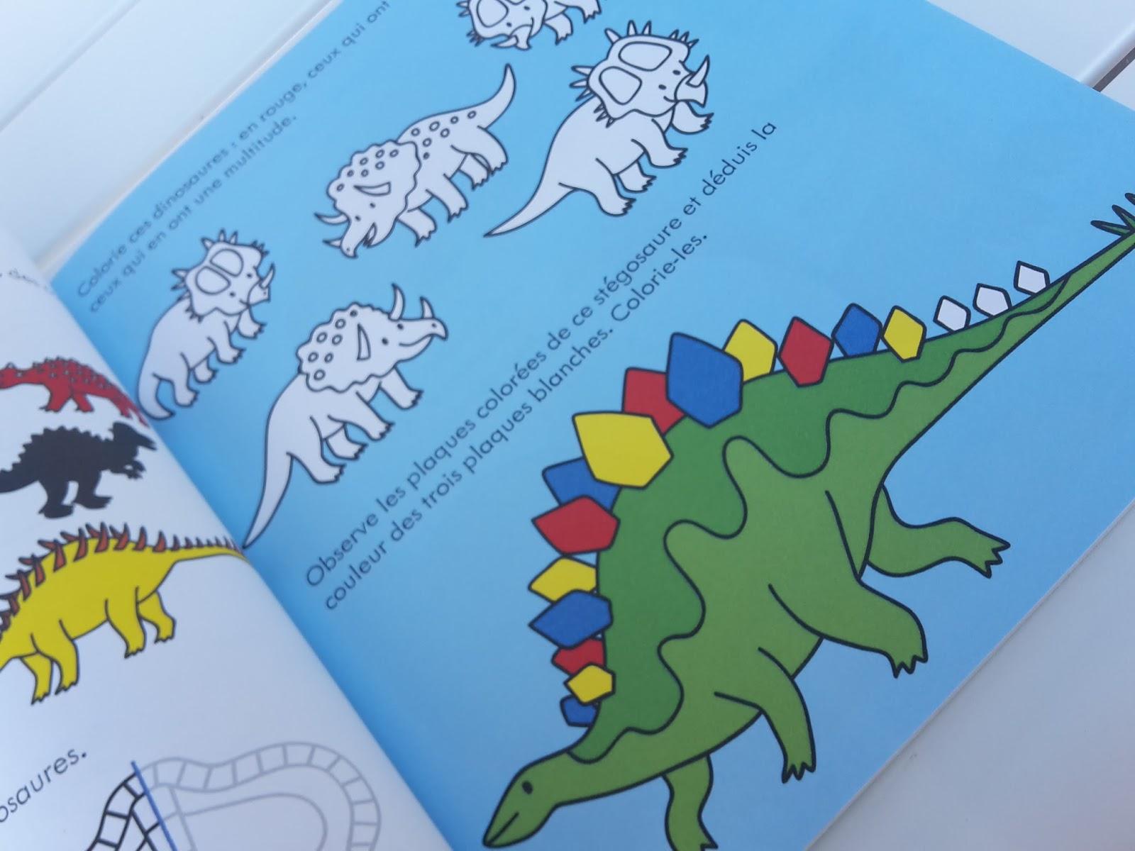 Coloriages et autocollants Les dinosaures