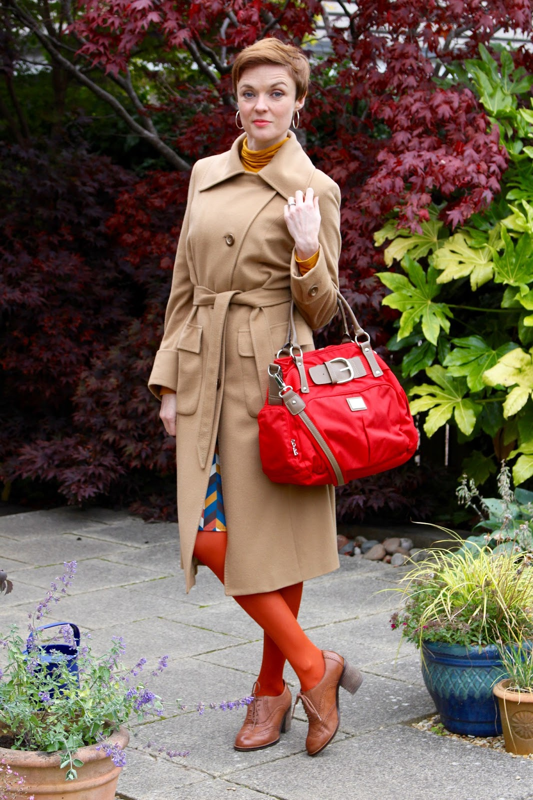The 70's trend, camel coat | Fake Fabulous