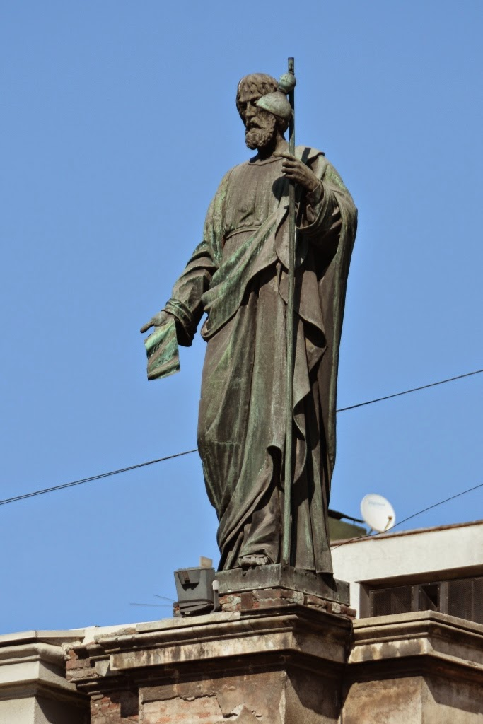 Cathedral of Santiago de Chile statue