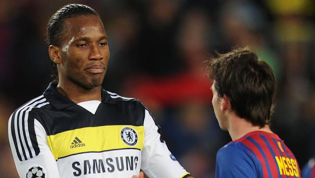 Les 2 joueurs meilleurs que Messi dans l'histoire selon Drogba