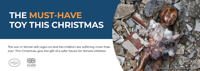 War-Damaged Toys Feature in Hard-Hitting Campaign to Gift a Safer Future