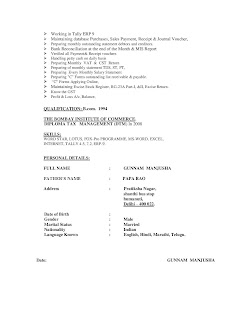 Tax Accountant CV 2