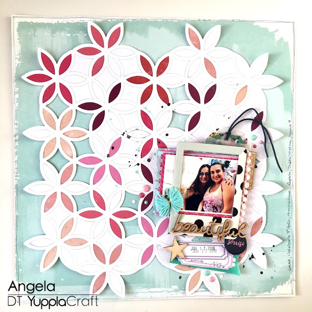 Beautiful Sorrisi Scrapbook Layout by Angela Tombari Yuppla Craft DT