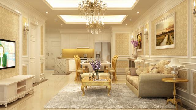 Thiết kế nội thất sang trọng tại chung cư Tân Hoàng Minh Trần Duy Hưng