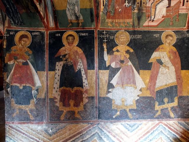 Pinturas de la Iglesia de la Natividad en Arbanasi