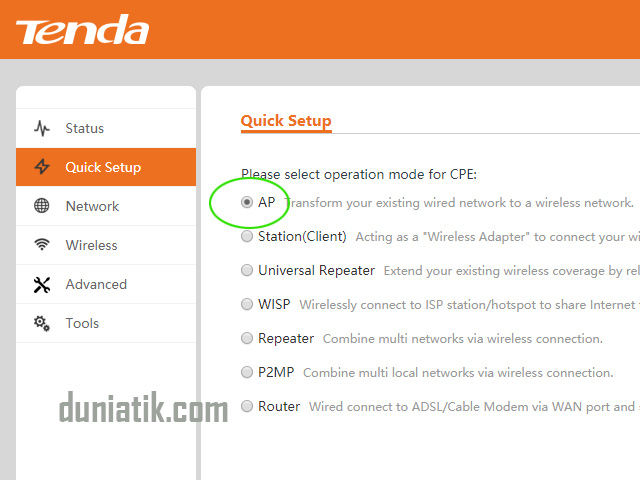 cara setting wifi outdoor tenda o3