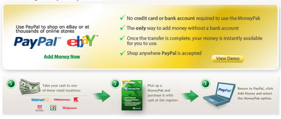 adding money to payPal
