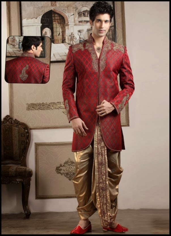 Usama Sherwani Designs 2013 2014 For Men All The Latest