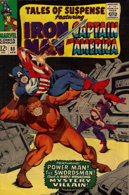 Tales of Suspense #88. Captain America vs Swordsman and Power Man