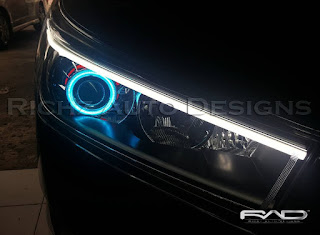 CUSTOM HEADLAMP INNOVA REBORN WITH PROJECTOR ANGEL EYES WIFI AND DRL LEXUS STYLE