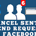 Facebook Cancel Friend Request