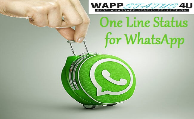 One Line Status for Whatsapp