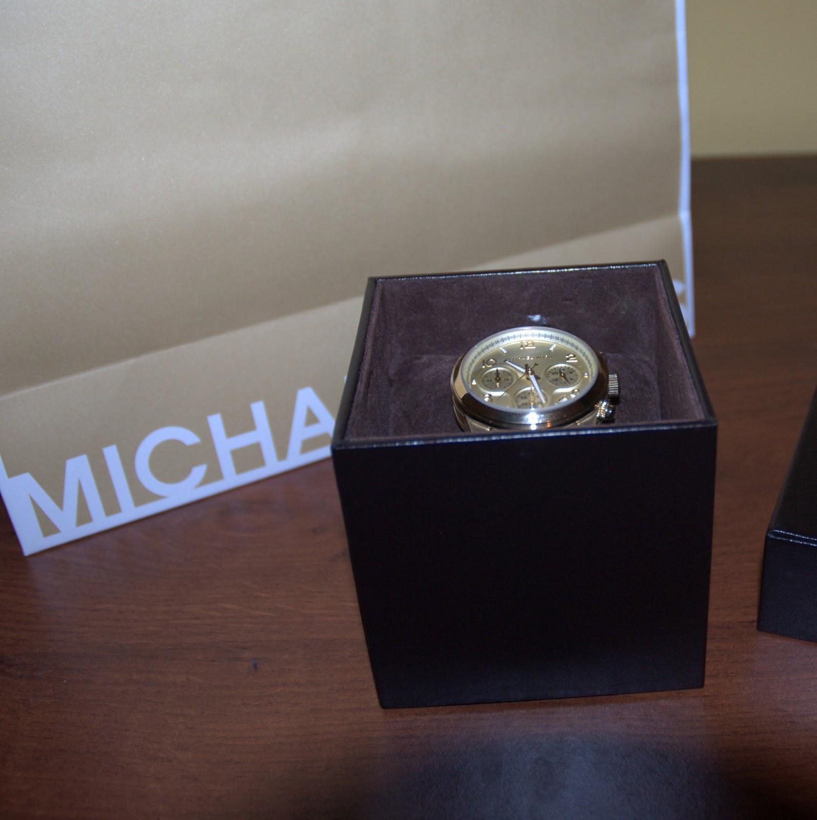 opakowanie złoty zegarek Michael Kors 5055