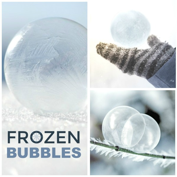 FROZEN BUBBLE SCIENCE EXPERIMENT FOR KIDS:  SO COOL!  #winterscienceforkids #winteractivitiesforkids #frozenbubbles