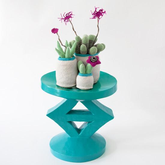 Safari Fusion blog   Crochet Cactus   Hand knitted cotton cactus, succulent and euphorbia pot plants by Safari Fusion