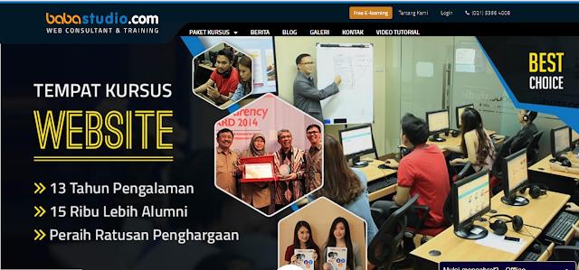 Belajar Cara Membuat Website Sendiri di Babastudio.com
