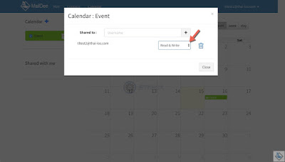 Share calendar folder to another user